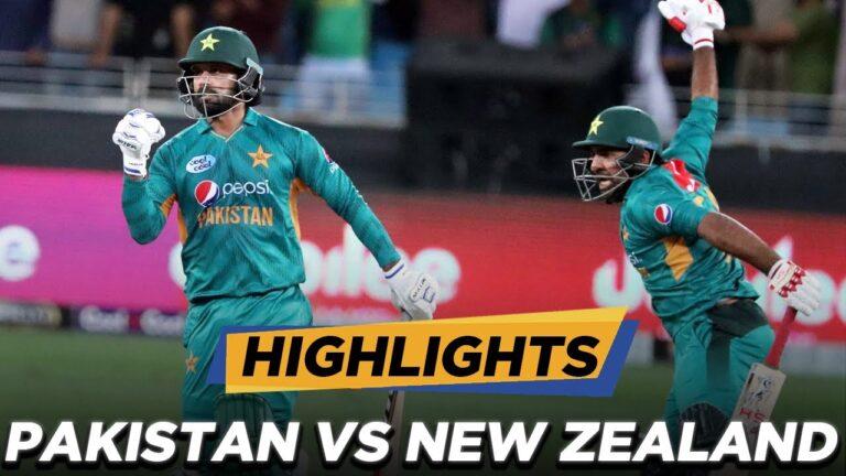 Pakistan vs new zealand highlights t20 2021